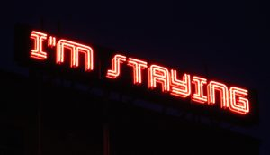 I'M STAYING | Shaun C Badham, 2014 | image courtesy of the artist