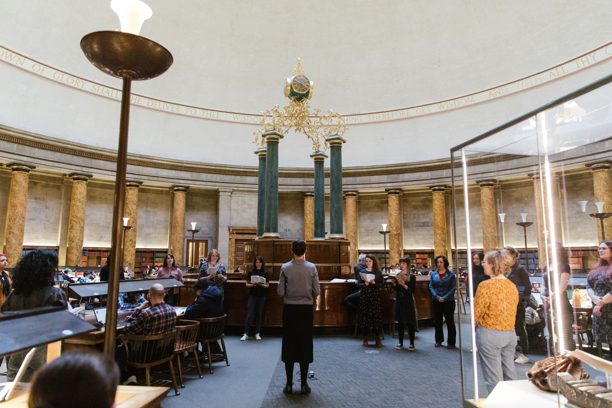 Always something moves | Sophie Lee & SHE Choir, 2020 | live performance: Manchester Central Library | image: Joanne Crawford